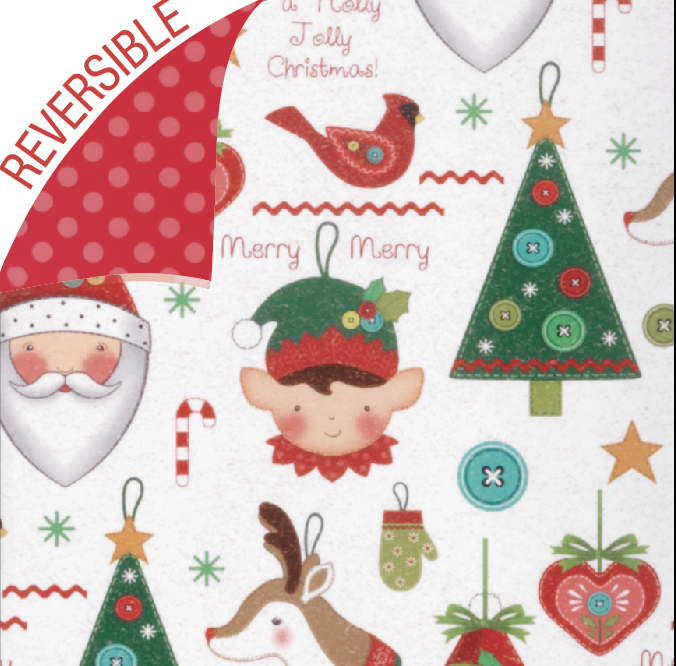 111 - Holly Jolly Reversible Wrap