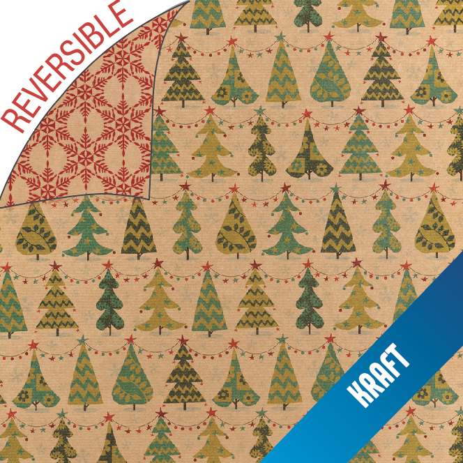 106 - Christmas Trees Reversible Wrap