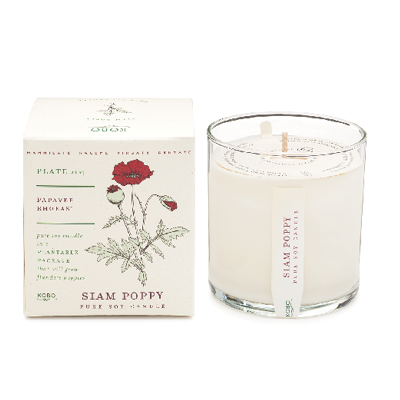 6361 - Plant-the-Box Siam Poppy Candle